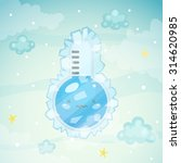 cute thermometer  very cold... | Shutterstock .eps vector #314620985