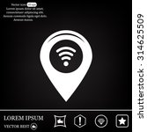 icon with map pointer with wi...