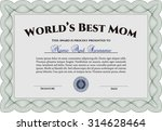 best mom award template. with... | Shutterstock .eps vector #314628464