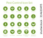 Vector Icon Set With Insects...