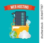 web hosting concept with cloud... | Shutterstock .eps vector #314647787