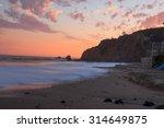 Crescent Bay Beach At Sunset