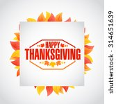happy thanksgiving stamp cube... | Shutterstock . vector #314651639