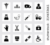 medical icons set | Shutterstock .eps vector #314653661