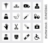 medical icons set | Shutterstock .eps vector #314653661