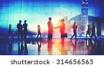 business people working busy... | Shutterstock . vector #314656565