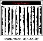 grunge brush strokes.grunge... | Shutterstock .eps vector #314656889