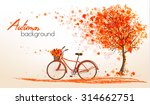 autumn background with a tree... | Shutterstock .eps vector #314662751