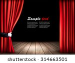 theater stage with wooden floor ... | Shutterstock .eps vector #314663501