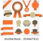 retro award elements set   set... | Shutterstock .eps vector #314667611