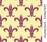 Fleur De Lys Seamless Pattern...