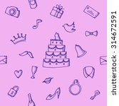 seamless pattern wedding on... | Shutterstock . vector #314672591