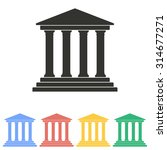 court icon on white background. ...   Shutterstock .eps vector #314677271