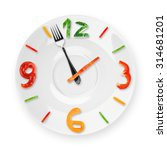 food clock on white background. ...   Shutterstock . vector #314681201
