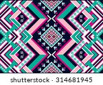 abstract geometric ethnic... | Shutterstock .eps vector #314681945
