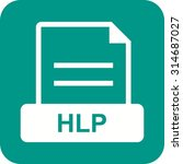 hlp  office  document icon... | Shutterstock .eps vector #314687027