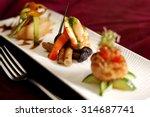 creative cuisine appetizer... | Shutterstock . vector #314687741