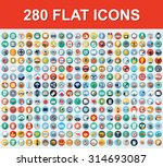 280 universal flat icons | Shutterstock .eps vector #314693087
