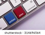 Action Plan Button On White...
