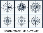 set of isolated compass roses... | Shutterstock .eps vector #314696939