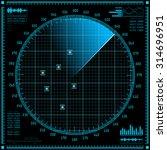 blue radar screen. hud...   Shutterstock .eps vector #314696951