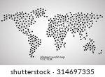 abstract world map. molecule... | Shutterstock .eps vector #314697335