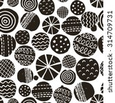 black and white seamless... | Shutterstock .eps vector #314709731