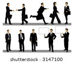 illustration of businessman and ... | Shutterstock .eps vector #3147100