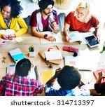 diversity teamwork... | Shutterstock . vector #314713397