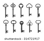 black keys icons set  vector....