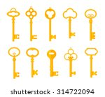 keys icons set  isolated.... | Shutterstock .eps vector #314722094