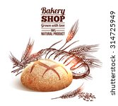 bakery concept with sketch... | Shutterstock .eps vector #314725949