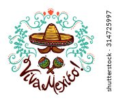 mexico concept with sketch... | Shutterstock .eps vector #314725997