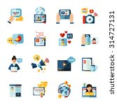 social media web blogger flat... | Shutterstock .eps vector #314727131