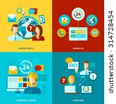 contact us design concept set... | Shutterstock .eps vector #314728454