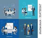 goal setting in business... | Shutterstock .eps vector #314730167
