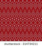 fair pattern sweater design on... | Shutterstock .eps vector #314734211