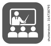 the training icon. teacher and...   Shutterstock .eps vector #314738795