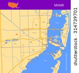 vector color map of miami. all... | Shutterstock .eps vector #314739701