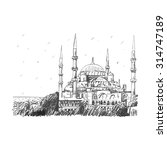 blue mosque  istanbul  turkey.... | Shutterstock .eps vector #314747189