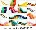 set of colorful flowing motion... | Shutterstock .eps vector #314759525