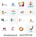 set of new universal company... | Shutterstock .eps vector #314759759