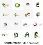 set of new universal company... | Shutterstock . vector #314760869
