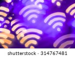 wifi symbol. abstract glowing... | Shutterstock . vector #314767481