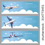 set of web banners. flight of... | Shutterstock .eps vector #314773451