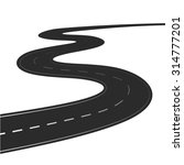 winding road illustration... | Shutterstock . vector #314777201