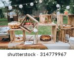 on decorated buffet table in... | Shutterstock . vector #314779967