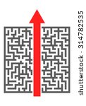 red arrow cutting through a... | Shutterstock .eps vector #314782535