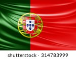 waving portugal  flag of silk  | Shutterstock . vector #314783999