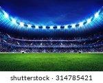 modern football stadium with... | Shutterstock . vector #314785421